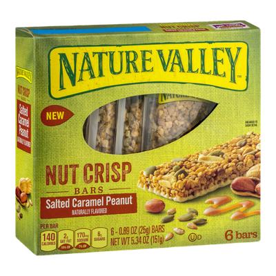 Nature Valley™ Nut Crisp Bars Salted Caramel Peanut