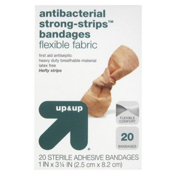 up & up up&up Antibacterial Strong-Strips Flexible Fabric Bandages