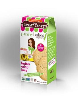 Ginnybakes Organic Gluten Free Butter Crisp Love5.5 oz (Pack of 8)