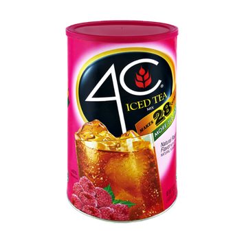 4C Natural Raspberry Flavor Iced Tea Mix