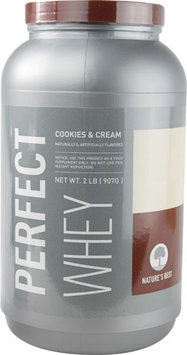 tures Best Nature's Best Perfect Whey Protein Cookies & Cream 2 lbs