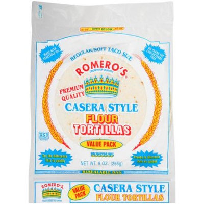 Romero's Casera Style Flour Tortillas, 9 oz