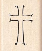 Inkadinkado Wood Mounted Rubber Stamp G-Jazzy Style Cross