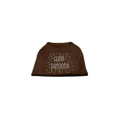 Ahi Cutie Patootie Rhinestone Shirts Brown Lg (14)