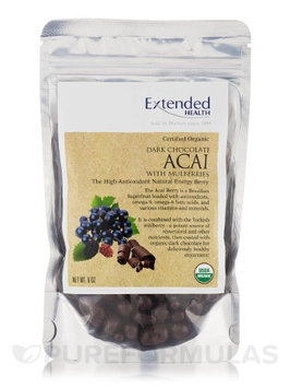 Organic Dk Choc Acai w/Mulberries 6oz by Extended Health
