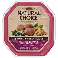 The Nutro Company Natural Choice Small Breed Adult Roasted Turkey and Vegetable Recipe Slices in Gravy Dog Food Flex Tray, 3-1/2-Ounce, Pack of 24