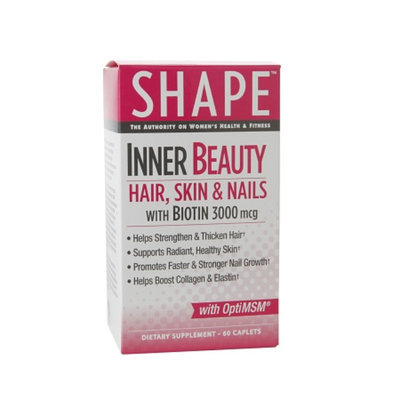 Shape Inner Beauty Hair, Skin & Nails Caplets, 16 fl oz