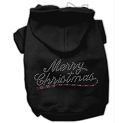 Mirage Pet Products 542507 MDBK Merry Christmas Rhinestone Hoodies Black M 12
