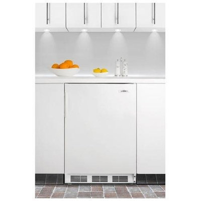 SUMMIT ADA compliant built-in undercounter refrigerator with automatic defrost and white exterior