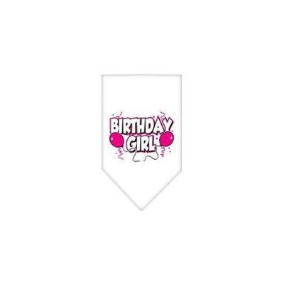 Ahi Birthday Girl Screen Print Bandana White Small