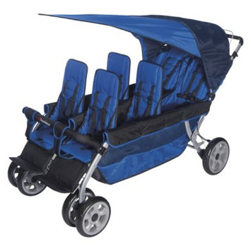 LX6 Six Passenger Stroller - Blue by Foundations