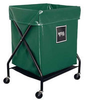 ROYAL BASKET TRUCK G08-EEX-XFA-3ONN X-Frame Cart,8 Bu, Green Vinyl