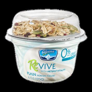 Alpina Revive Plain Non-Fat Greek Yogurt + Superfoods
