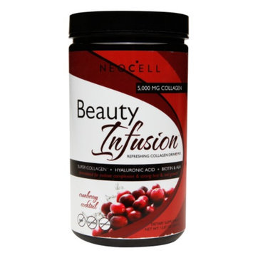 NeoCell Beauty Infusion Refreshing Collagen Drink Mix, Cranberry Cocktail, 15.87 oz