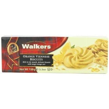 Walkers Shortbread Orange Viennese Cookies, 5.3-Ounce (Pack of 4)