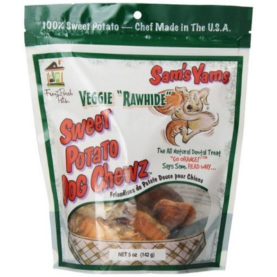 Sam's Yams Veggie Rawhide Sweet Potato Dog Treats