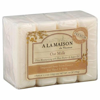 A La Maison Bar Soap Oat Milk Value4 Pack
