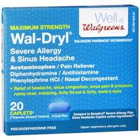Walgreens Wal-Dryl Severe Allergy & Sinus Headache