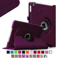 Fintie iPad Air 2 Case - 360 Degree Rotating Stand Case with Smart Cover Auto Sleep / Wake Feature, Purple