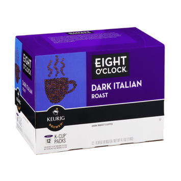 Eight O'Clock Dark Roast Italian K-Cup Packs - 12 CT