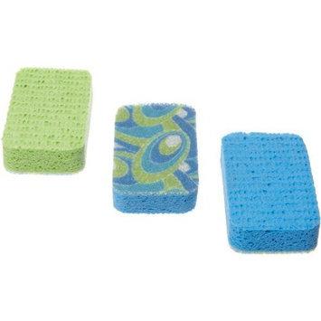 Casabella Scrubby Sponges, 3-Pack, Blue