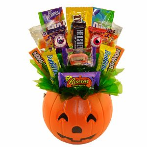 Sweets in Bloom Boo! Halloween Pumpkin Candy Bouquet