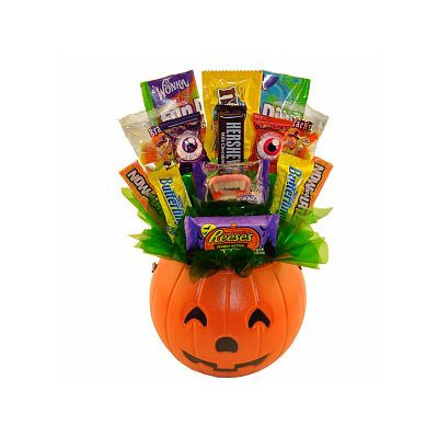 Sweets in Bloom Boo! Halloween Pumpkin Candy Bouquet