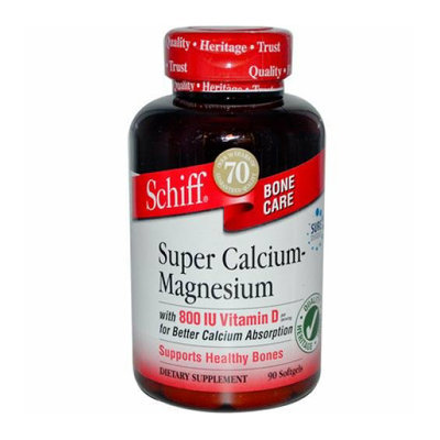 Schiff Super Calcium Magnesium With Vitamin D 90 Softgels