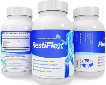 Naturo Sciences Restiflex Natural Egg Shell Membrane Bone and Joint Support Dietary Supplement, 60 Soft Capsules