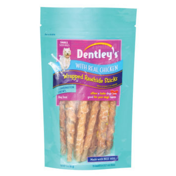 Dentley'sTM Combination Chews Wrapped Rawhide Sticks Small Dog Treats