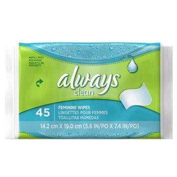 Always Clean Feminine Wipes Refill