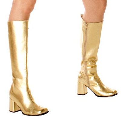 Buy Seasons Gold Gogo Boots Adult - 8.0