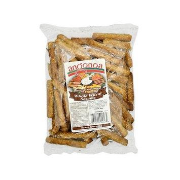 Angonoa's Breadsticks Bag, Whole Wheat Sesame, 8 Ounce (Pack of 12)