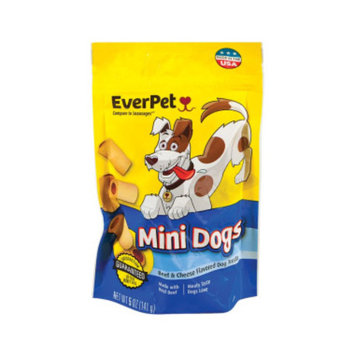 Everpet Mini Dogs Dog Treats - Beef and Cheese Flavor, 5 oz