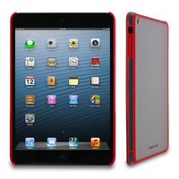 rooCASE Snap-On Slim Fit Fuse Hard TPU Shell Skin Case Cover for Apple for Apple iPad Mini with Retina Display, Red