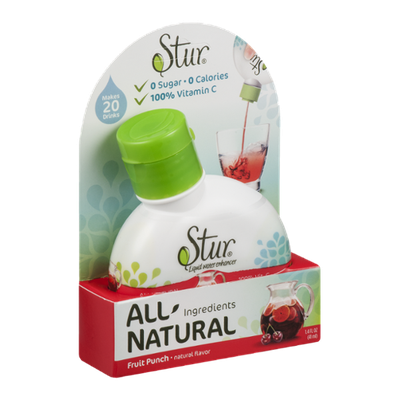Stur All Natural Liquid Water Enhancer Fruit Punch