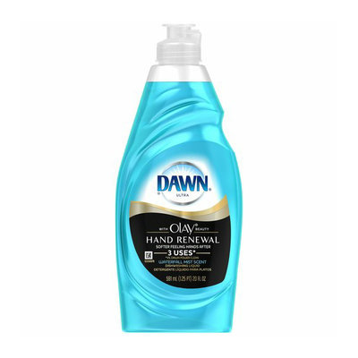 Dawn Hand Renewal with Olay Waterfall Mist Scent Dishwashing Liquid