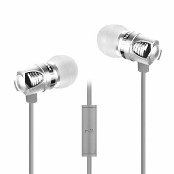 ID America IDH101-BLK Spark In-Ear Headphones, Silver, 1 ea