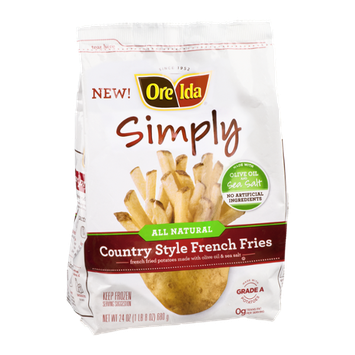 Ore-lda Simply All Natural Country Style French Fries With Olive Oil And Sea Salt