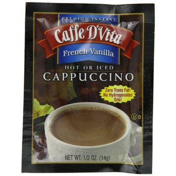 Caffe D'Vita French Vanilla Cappuccino, 0.5-Ounce Envelopes (Pack of 24)