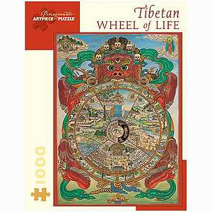 Pomegranate Communications Tibetan Wheel of Life Puzzle 1000 pcs  Ages 12 and up