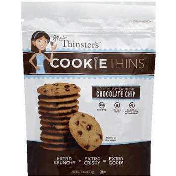 Mrs. Thinsters Mrs. Thinster's Chocolate Chip Cookie Thins, 4 oz, (Pack of 12)