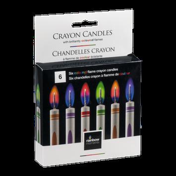 Rainbow Moments Crayon Candles - 6 CT