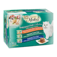 Purina Fancy Feast Elegant Medleys Shredded Fare Collection Gourmet Cat Food 3 Flavors - 12 CT