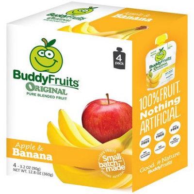 Generic BuddyFruits Apple & Banana Original Pure Blended Fruit, 3.2 oz, 4 count