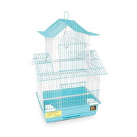 Prevue Hendryx SP1720-6 Shanghai Parakeet Cage, Sea Foam and White