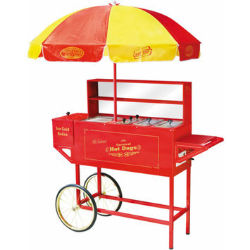Nostalgia Electrics HDC-701 Vintage Collection Carnival Hot Dog Cart & Umbrella