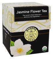 Buddha Teas Jasmine Flower 100 Percent Organic Herbal Tea 18 Bags Per Packet