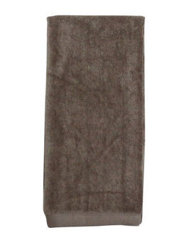 Pds Online 100% Terry Velour Cotton Hemmed Tri-Fold Golf Towel Taupe2000