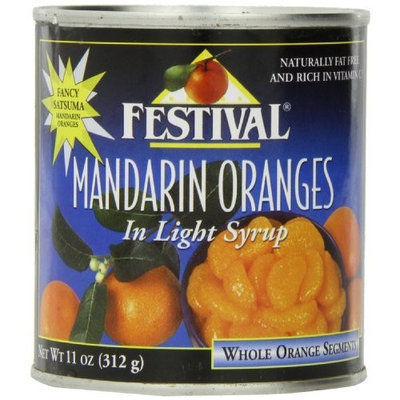 Festival Mandarin Oranges Whole in Light Syrup, 11-Ounce (Pack of 24)